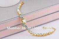 цдо Hits! 18 к золото браслет с элемент ео, мода звезда старинные браслет b0042b