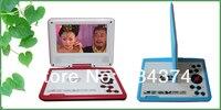 7 дюймов портативный телевизор МР4 плеер 10 шт./лот с бесплатная доставка DHL и игры