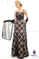 2012а + новый! ручной без жестокой платье-линии работы с участием N halogen черное кружево платье вечернее платье