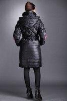 бесплатная доставка мода зимний пуховик женщин с Заголовок с длинным рукавом верхняя одежда китайский вышивка плюс размер дамы пальто 8807