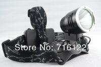 кри XML T6 светодиодный 2000 люмен алюминиевый сплав фар глава факел свет лампы фонарик 3 режим черный новый + зарядное устройство бесплатная доставка