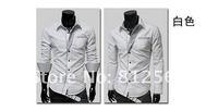 мода мужчины свободного покроя полоса украшения с длинными рукавами персонализированные тонкий рубашка бесплатная доставка оптовая продажа лови : м / L / хl / ххl