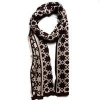 80275 женщин людей шарфы мода хлопок конструктор пост ned этнические теплые chile темно-коричневый зимняя шерсть шарфы китай