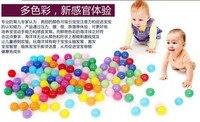 бесплатная доставка 5.5 см эко-сельское красочные мягкий пластик океанская волна мяч, детские веселые игрушки 100 шт./лот