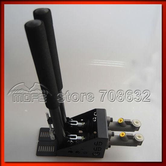 0.75 inch Dual Twin Double Master Cylinders Handles Lockable Vertical Drift Rally Handbrake Hand Brake Hydraulic E-brake DSC_08314