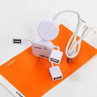 мини-порт USB 2.0 высокоскоростной 4-портовый 4 разъём по USB обмен хаб для пк ноутбук белый