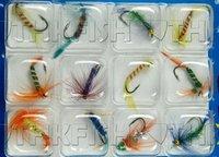 3 стиль! 36 шт. много стиль бабочка высоких крюк летать рыбы нахлыстом лосось мушки снасти
