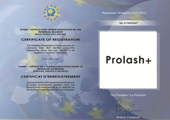 Prolash European Union Trademark Certificate 2.jpg