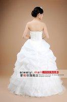 бесплатная доставка оптовая продажа скидка 2011 популярные элегантный ручной работы цветы оборками принцесса шифон свадебное платье