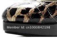 весна новый сексуальное искусственная кожа верхней шкуру леопарда туфли на каблуках туфли на высоком каблуке женские туфли в коричневый цвет с платформа мода туфли
