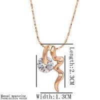 новый год подарок 18 к шампанское позолоченные мода ожерелье с высокое качество циркон # ln209