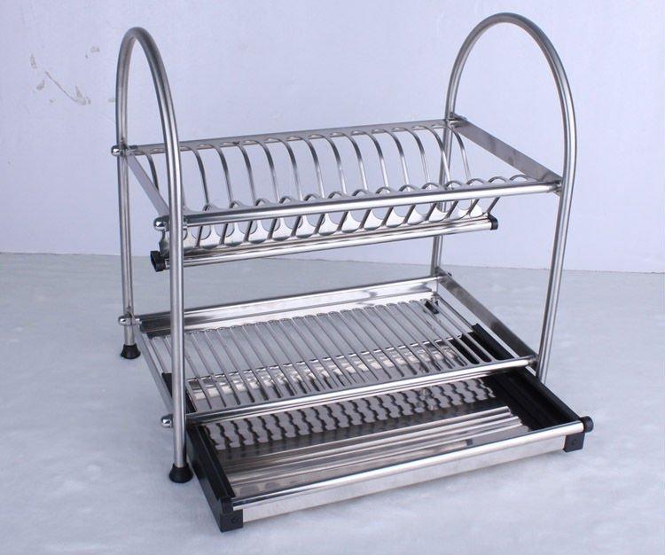 1 2 & 304 Stainless Steel Dish Drainer Kitchen Rack Dish Rack Cutlery ...