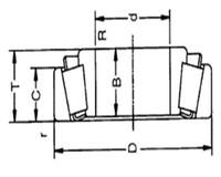 35 мм приводной вал 30307 конический роликовый подшипник 35*80*22.8 35x80x22.8 мм t2fb035 7307e конического подшипника