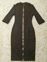 нажмите горячий продавать новое постулат женщин мода Европа стиль сша вечернее ну платье женская полива прямо офис платье бесплатная доставка