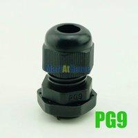 100 шт./лот водонепроницаемый нейлон ПГ коннектор кабель кабельный ввод pg09 pg9 диам. 4 ~ 8 мм черный # bv126 @ сf