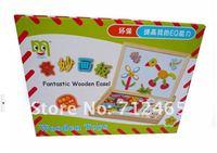бесплатная доставка! забавные игрушки образовательных деревянная игрушка головоломка магнитного поделки блоков ребенка раннего обучения магнитная головоломка