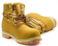 американский запад пожарный стиль мужчины мода зима теплая меховой загрузки туфли женщины верхняя из естественной кожи желтые ботинки