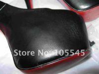бесплатная доставка кожа водонепроницаемый конструктор мода женские туфли на каблуках