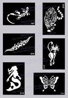 трафареты для тела художественная роспись - временное блеск тату комплект - 200 лист - выбрать модели вам нравится - бесплатная доставка