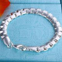 7 мм / 8 дюймов женщины в змея стиль 925 серебро браслет, 925 серебро ювелирные изделия