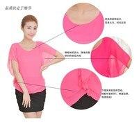 г-жа рукава летучая мышь рубашки с карате Recover футболка женщин летом лето женщины нью-блузки cores большие дворы