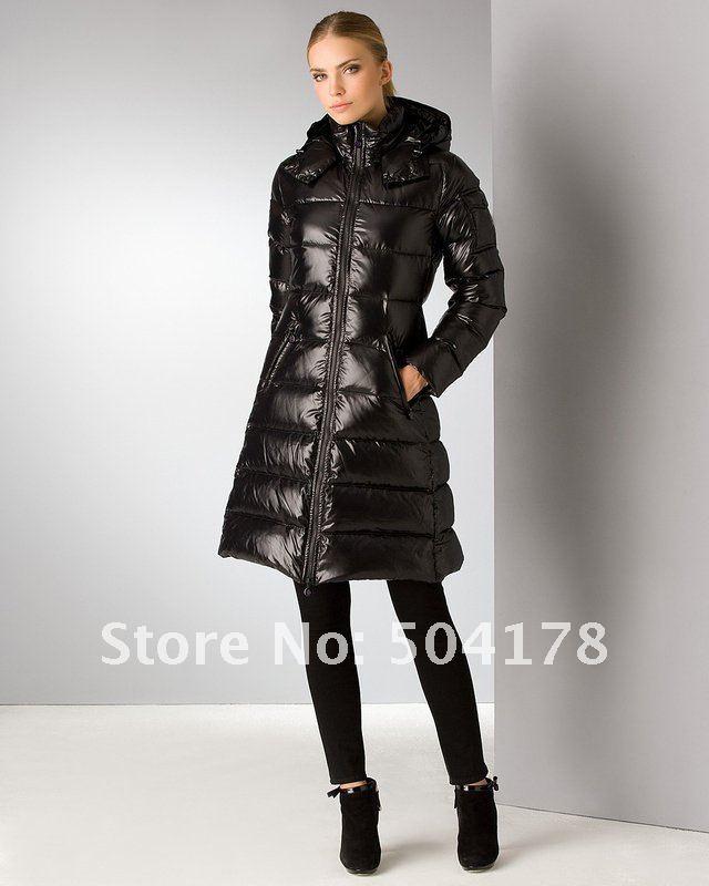 Hot Selling Black Fashion Long Jacket Women Down Jackets Warm Down ...