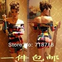 гриб осень женщин щель декольте тонкий сексуальное хип облегающие основной частей платье