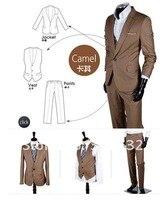 рекламные! горячая распродажа мода мужская свободного покроя тонкий подходят узкие деловые костюмы мужская одежда / пальто из трех частей