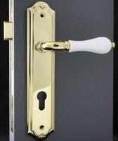 brasshandle двери замок в европейском стиле роскошный / дверная ручка комплект ж / замок латуни + бесплатная доставка