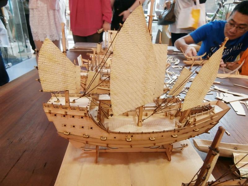 Wooden china sail boat Fujian ships Wooden barque model kit