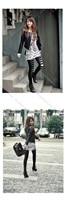 новый искусственная кожа женщин стильной леди пальто верхняя одежда мотокуртка 2 цветов бесплатная размер 7210
