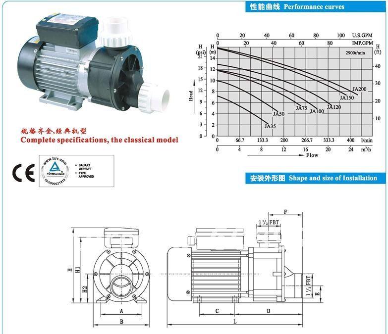 Bath pump ja120 инструкция