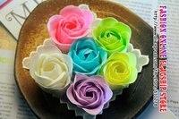 бесплатная доставка, горячая! 100 розы мыло цветок сердца - в форме цветок / свадебный подарок / день святого валентина подарок 1 комплект /много