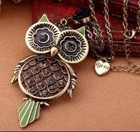 супер винтажный сова кулон ювелирные изделия комплект ожерелье птицы