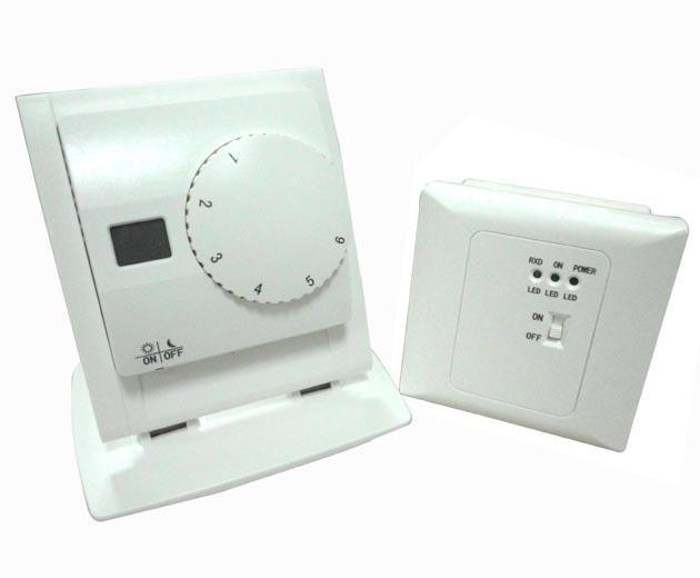 אלחוטית LCD תצוגת טמפרטורה דיגיטלית מכשירים התרמוסטט thermoregulator עם מקלט