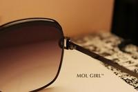 европа / сша звезда мода элегантный девушка / женщин качество LD солнцезащитные очки с кофе цвет линзы, валентина в подарок, бесплатная доставка
