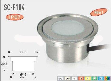 new 12v diy ip67 stainless steel dismountable round inground led