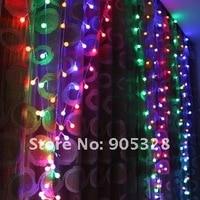 2, 5 * 1 м из светодиодов украшение фары занавески шнурок лёгкие веревка лампа сосулька освещение свадьба украшение
