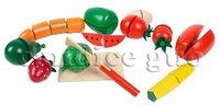 кэндис го! горячие продажи образовательные игрушки деревянные играть дома фрукты овощи набор сократить 1 баррель