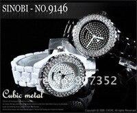 продукт, 9146 женщины в белый циферблат мод сталь до запястья часы
