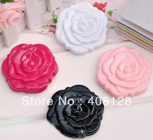 Frete grátis 3D Rose Forma Compacta Cosmtic