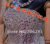 милая мерцание кристалл платье невесты великолепный популярные свадьба свадебное платье фактический магазин xnr-088