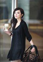 бренд отличное качество, бревно две части регулируемая осень и зима элегантный мода Rico платье