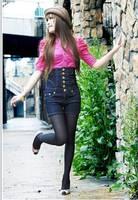 мода старинные высокая Tale сочетает брюки золотой пряжкой джинсы или шорты женский большой размер 8xl