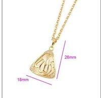 оптовая продажа 18 к золотой кулон, исламская мусульманский аллах, бесплатная доставка и ожерелье # pe120650000042