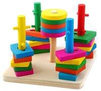 площадь пять колонка комплект блоков детские развивающие игрушки фитнес-упражнения мозг и руки понимание цвет и форма
