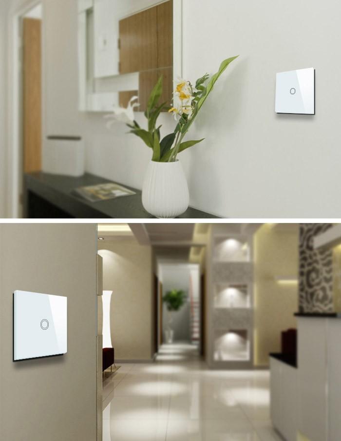 стиль Валерия 2 разъём стекло панели умный дом датчик стены выключатель света с из светодиодов индикатор CE и утверждение