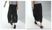 3 возврат высокое разрез черный шифоновая юбка бренд полный - длина с чистой сексуальное мода свободного покроя юбки - и - матч в любое время года