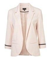 мода три cheer длинным рукавом тонкий женское пальто блейзер конвертировать цвет серый / черный / белый / Chi роза / синий / розовый размеры XS / S / м / L / хl / ххl