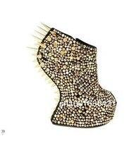 г бренд открытым Icon Серра Crystal Ship Ship туфли на высоком платформа парня чистые ботинки, женщины Spike bury горячая туфли bootsshoes